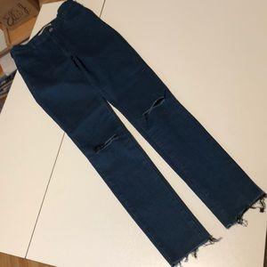 Dark Wash Zara Skinny Jeans Jeggings 4